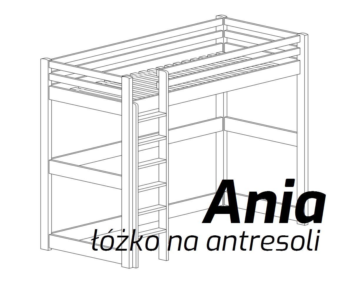 łóżko Na Antresoli Ania Lozkanet