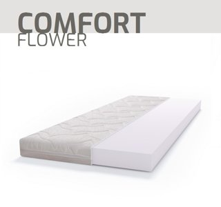Materac piankowy PUR BASIC COMFORT FLOWER