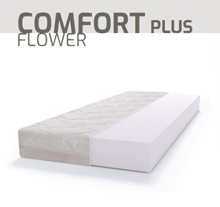 Materac piankowy PUR BASIC COMFORT PLUS FLOWER