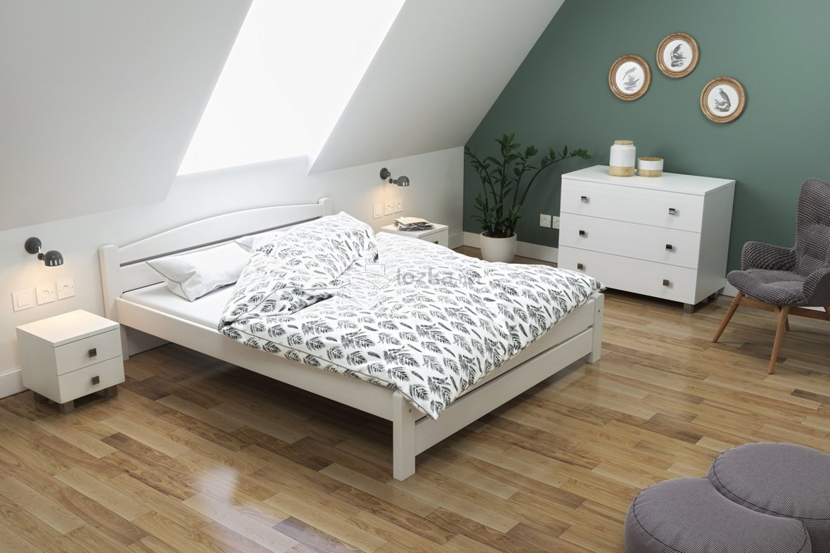 łóżko Do Sypialni świerkowe Basia