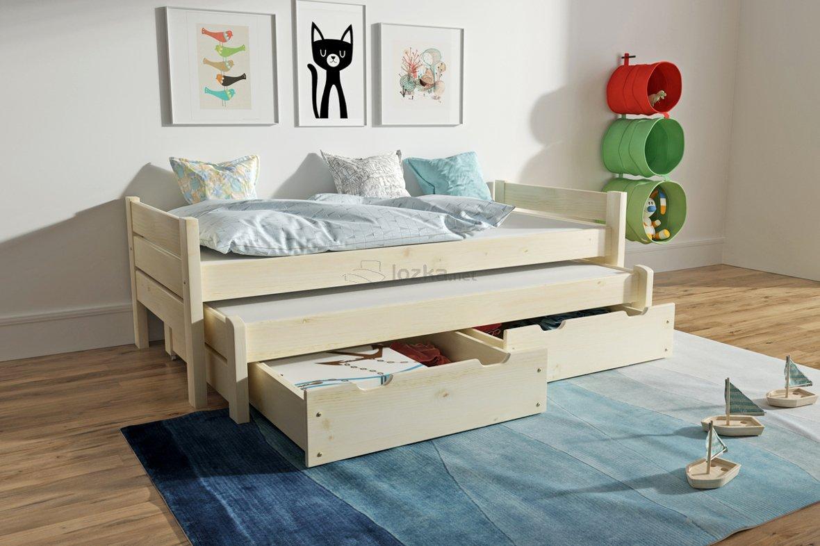 Łóżko dziecięce podwójne z szufladami ADRIAN