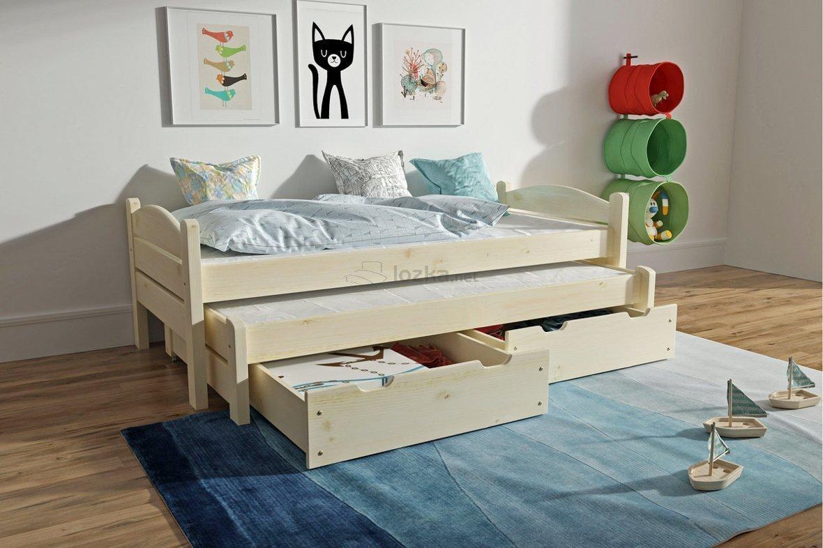 łóżko Dziecięce Podwójne Z Szufladami Marcin