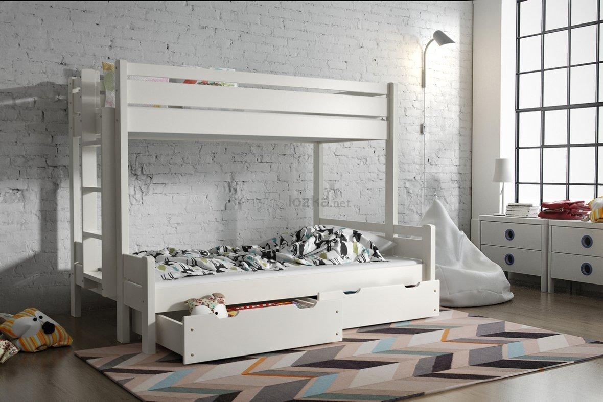 łóżko Piętrowe 3 Osobowe Jarek
