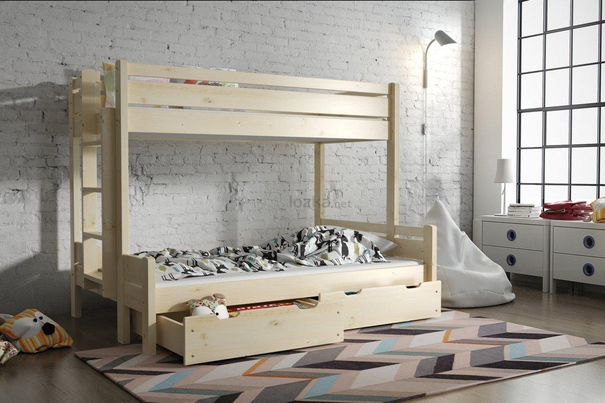 łóżko Piętrowe 3 Osobowe Jarek Lozkanet