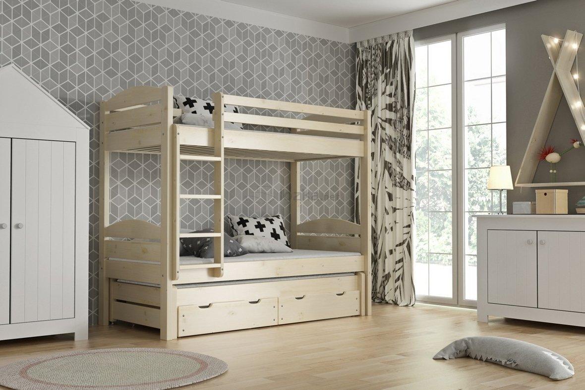 łóżko Piętrowe 3 Osobowe łukasz