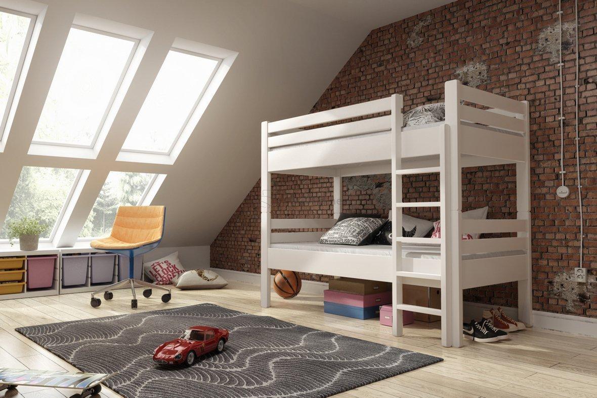 łóżko Piętrowe Z Barierkami Rozkładane Na Dwa Kamil świerkowe